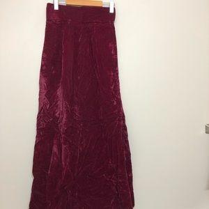 Vintage Velvet Burgundy Maxi Skirt Sz 27